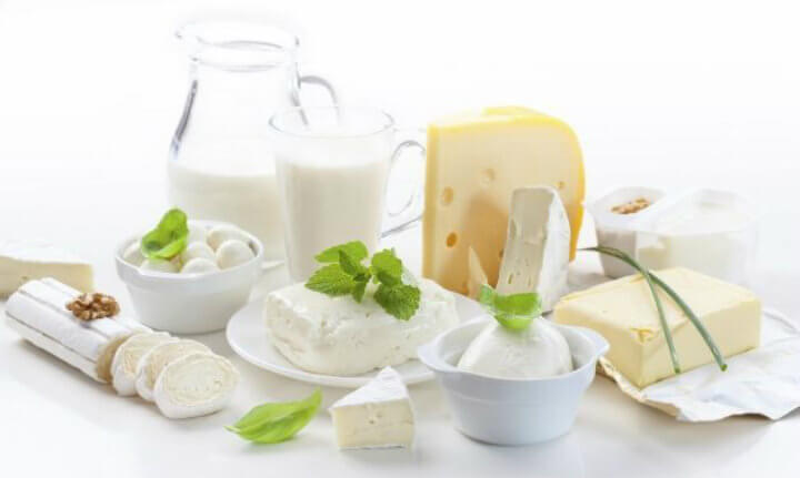 A range of dairy based calcium sources