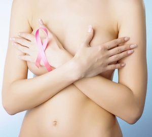 Breast cancer awareness woman