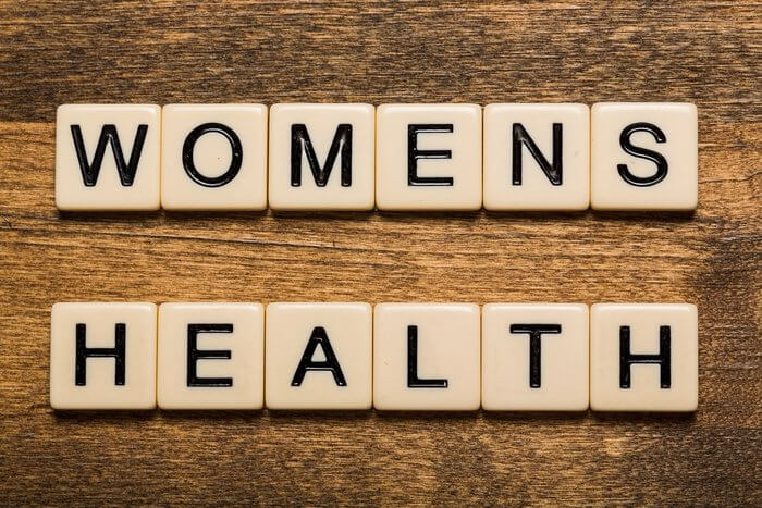 Women's Health spelled out in scrabble letters