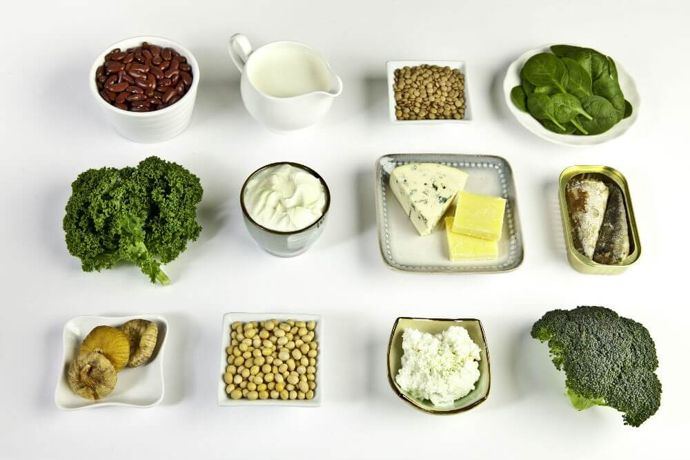 Selection of calcium-rich foods for osteoporosis prevention