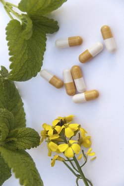 Assortment of herbal remedies and supplements