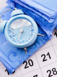 Sanitary pads, clock and calendar