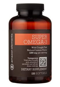 Amazon Elements Omega 3 Bottle
